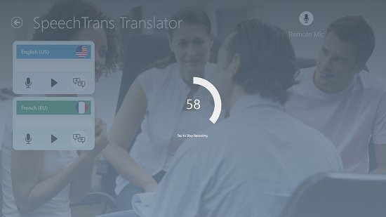 SpeechTrans Translator Recording Upto 60 seconds
