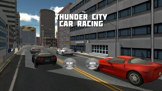 Thunder City Car Racing Main Screen