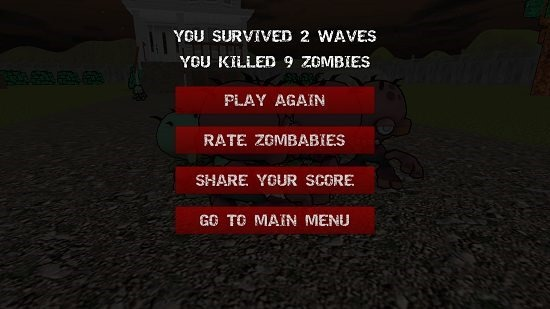 Zombabies game result
