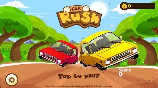 car rush main screen