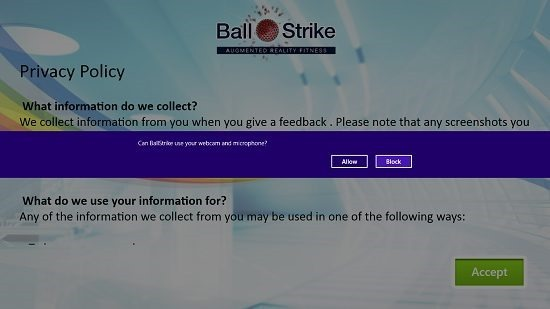 BallStrike Main Screen