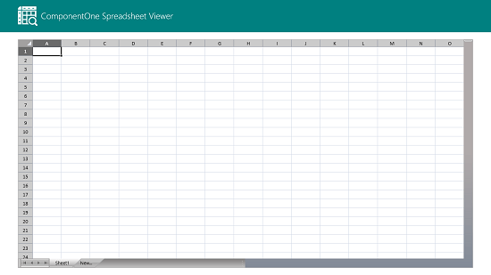ComponentOne Spreadsheet Viewer main screen