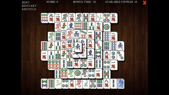 Mahjong Deluxe Tiles Removed