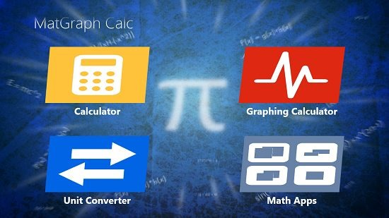 MatGraph Calc Main Screen