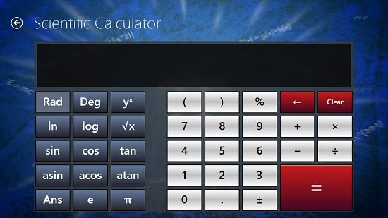 MatGraph Calc Scientific Calculator Screen