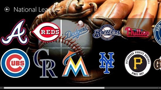 Baseball Pro national league teams