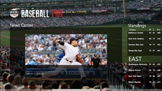 Baseball Pro news and standings
