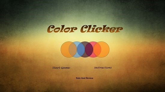 Color Clicker Main Screen