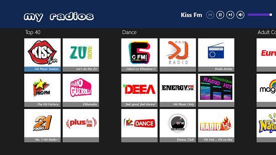 My Radios main screen