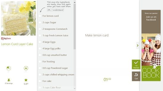 SO COOKBOOK Interactive cooking page