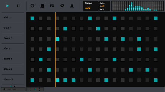 Sequencer Main interface