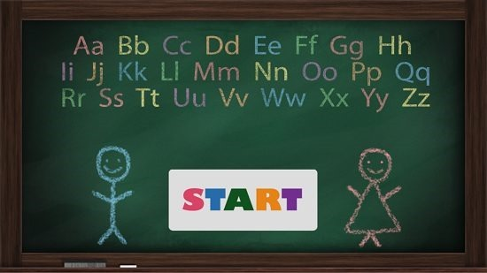 Alphabet Talking Teacher Main Screen