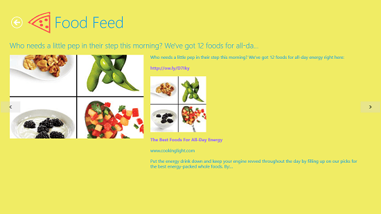 Food Feed recipes