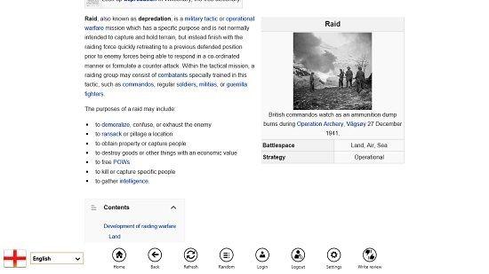 Wikipedia 8 Control Bar