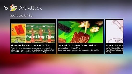Art Attack Main Screen
