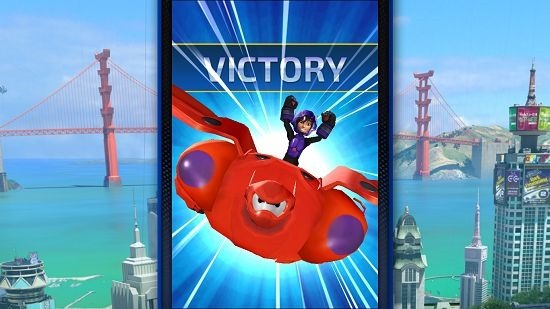 Big Hero 6 Bot Fight victory