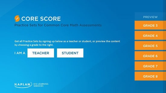 Core Score Main Screen