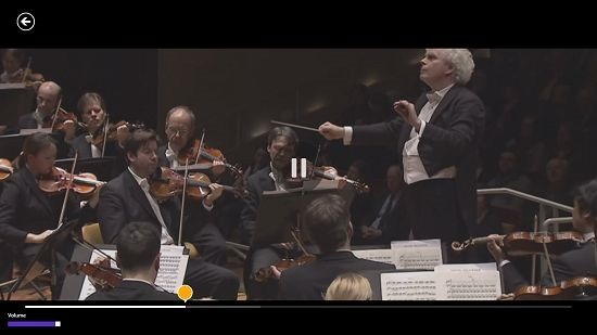 Digital Concert Hall video playback