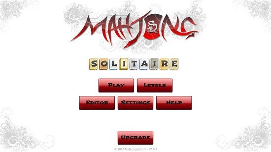 Mahjong Solitaire Main Screen