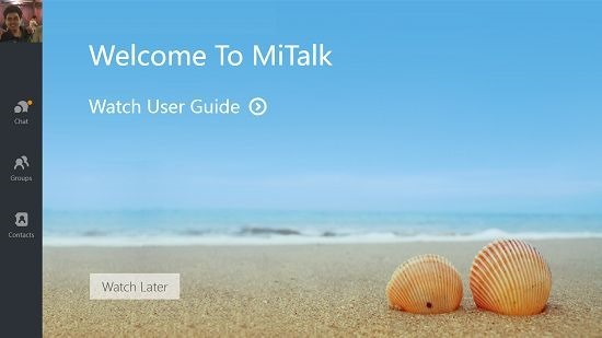MiTalk logged in