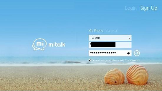 MiTalk sign up