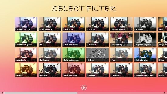 QuickFilter select filter