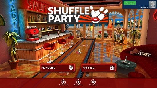 Shuffle Party Main Screen