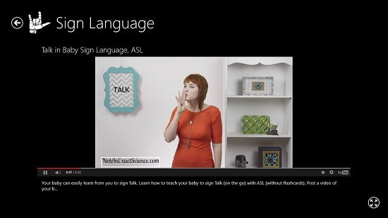 Sign Language demonstration video