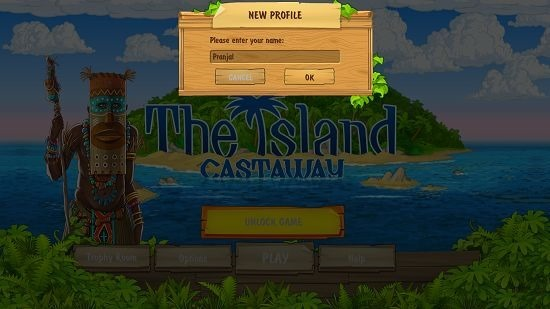The Island Castaway enter player name