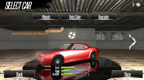 Highway Racer car selection