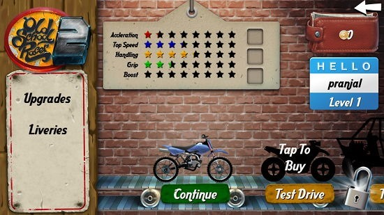 Old School Racer 2 select bike
