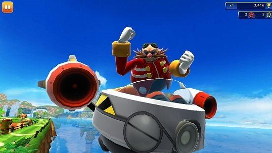 Sonic Dash boss battle