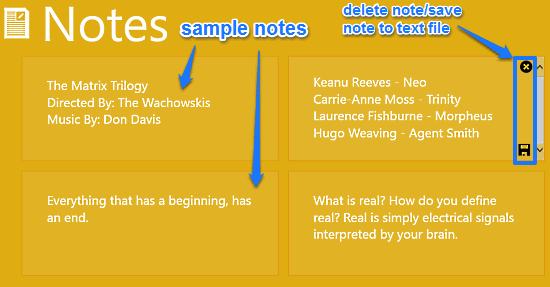 notes working sample note