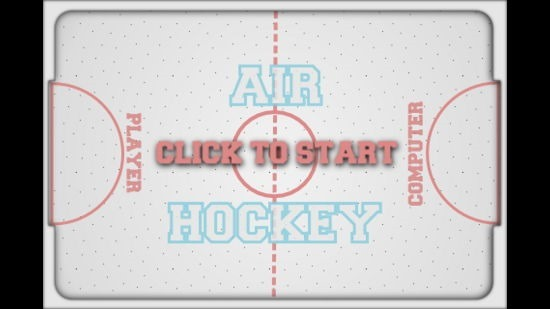 Air Hockey Main Screen