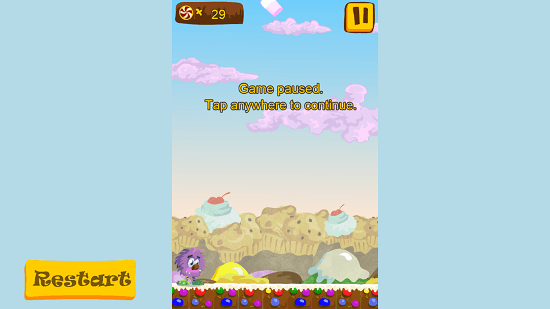 Candy Sweet Soda game paused