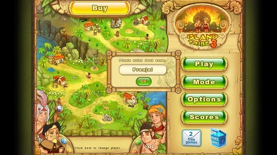 Island Tribe 3 Main Screen