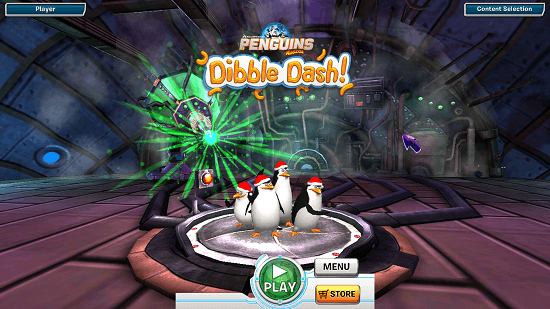 Penguins Of Madagascar Dibble Dash main screen