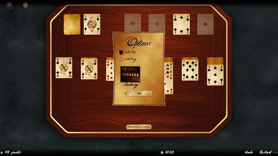 Solitaire Magic game options