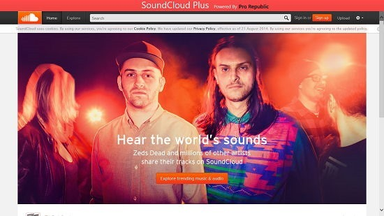 SoundCloud Plus Main Screen