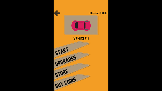 Drive Me Out Game Menu