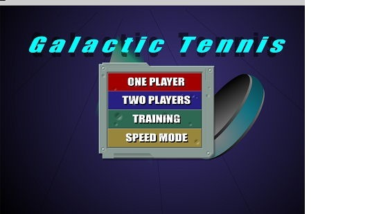 Galactic Tennis Main Screen