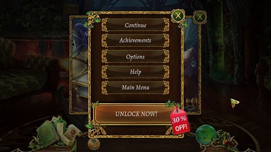 Grim Legends 2 Pause Menu