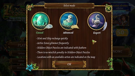 Grim Legends 2 Select Difficulty