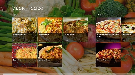 Recipe Magic Main Screen