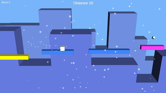 Simple Runner Main Screen