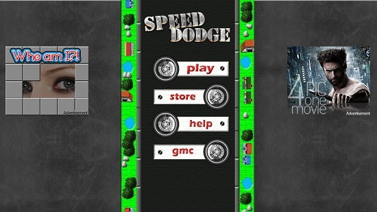 Speed Dodge Main Screen