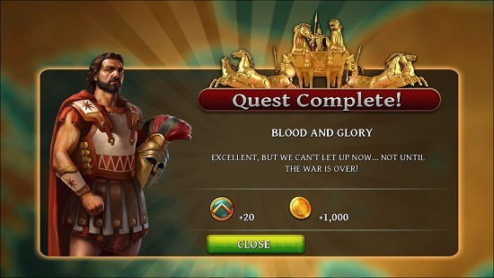 Age of Sparta Quest Completed