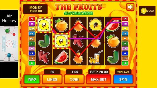 Fruit Slot Machine combo made