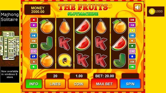 Fruit Slot Mavhine main screen