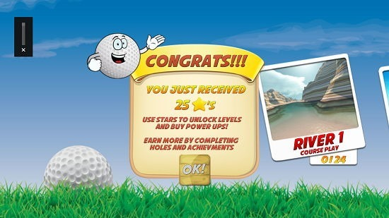 Mini Golf Stars 2 main screen